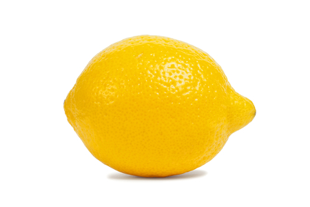 Macro of lemon isolated on white