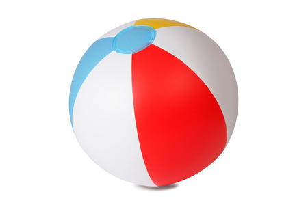 Inflatable beach ball isolated on white background photo
