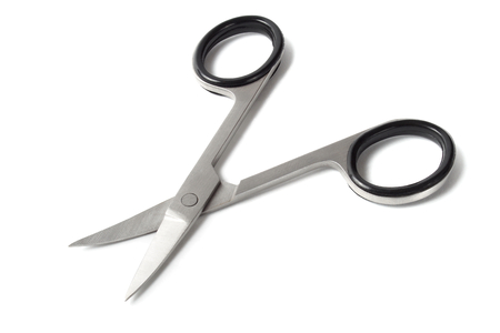 nail scissors: Nail scissors isolated on white background Stock Photo