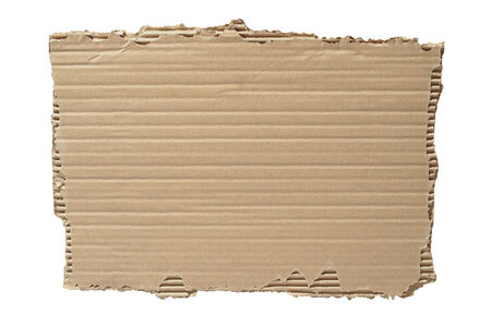 Blank cardboard isolated on white background Stock fotó - 31239552