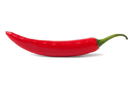 peper: Red hot chili pepper isolated on white background