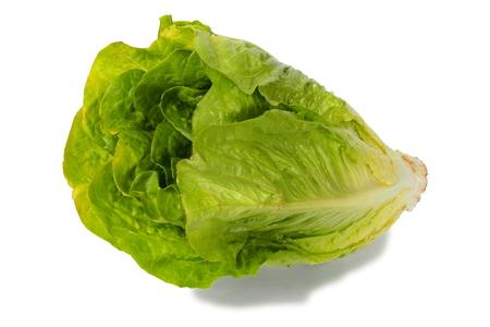 romaine: Green romaine lettuce on white background Stock Photo