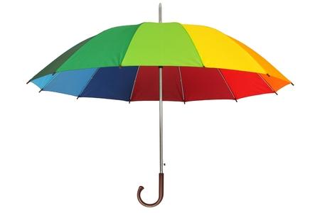 rainbow umbrella: Rainbow umbrella isolated on white background