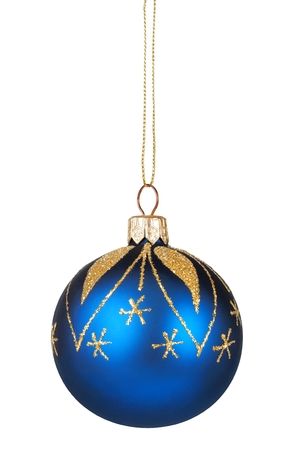 Isolated Christmas bauble on white Stock Photo