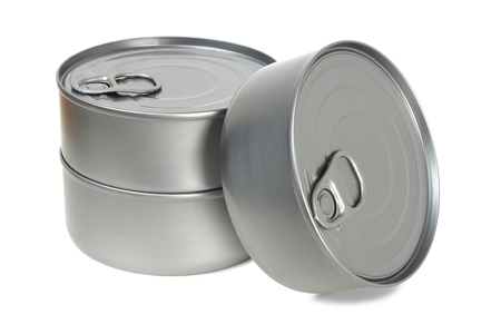 Two cans isolated on white background