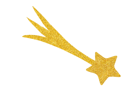 Golden star isolated on white background ready for cut and paste