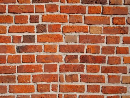 Wall made from bricks, can be used as background or texture