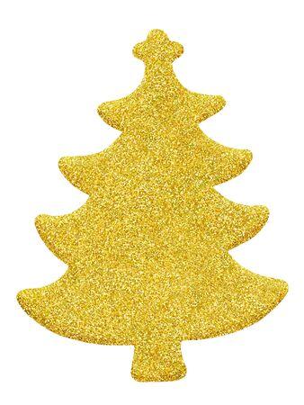 Glistening Christmas tree isolated on white background Stock fotó