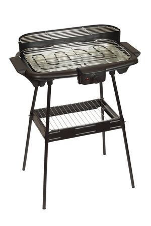 Electric barbecue grill isolated on white background