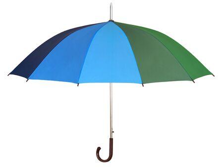 Rainbow umbrella isolated on white background