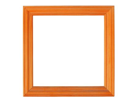 Rectangle wooden picture frame isolated on white background Stock fotó