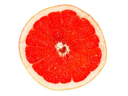 Half of grapefruit isolated on white background Stock fotó