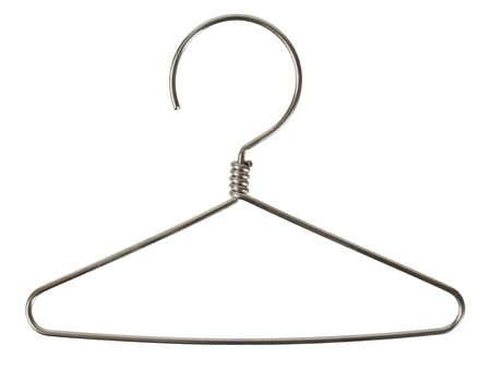 Wire coat hanger isolated on white background