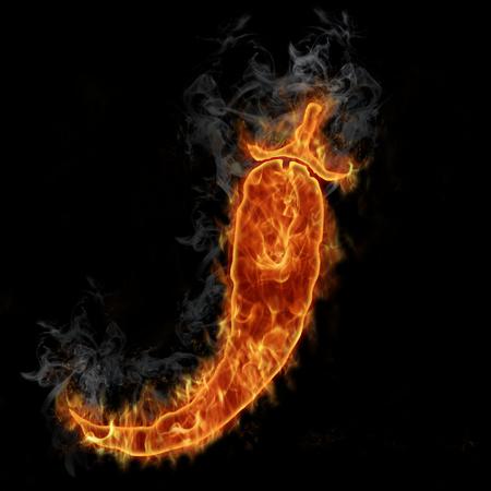 Red hot chilli pepper symbol
