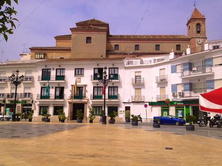 nerja: spanish square near Nerja, Andalusia