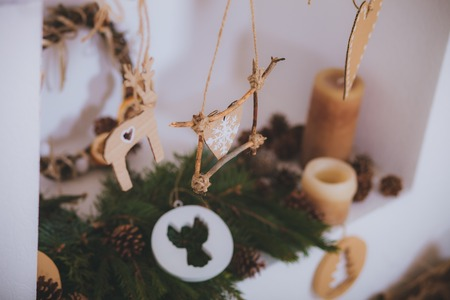 Christmas toys vintage presents  Rustic style