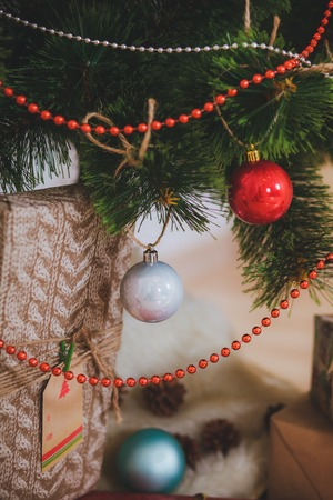 Christmas toys presents  Rustic style Stock Photo
