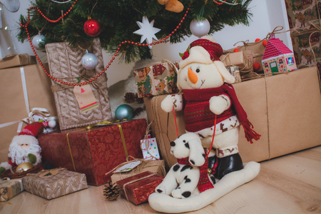 Christmas vintage presents and toys
