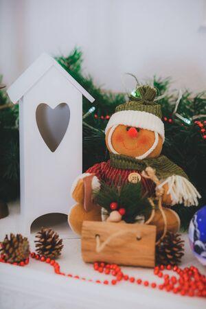 Christmas vintage presents Stock Photo