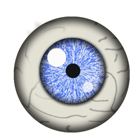 eyes wide open: eyeball isolated