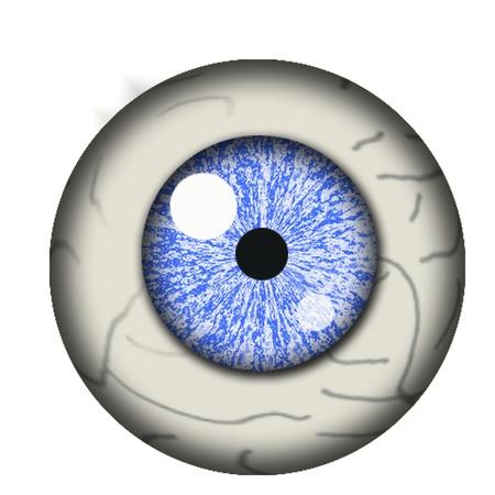 eyes wide open: eyeball isolated