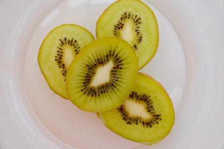 Kiwi fruit in a bowl photo