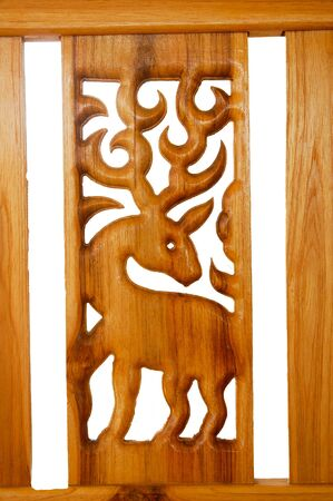 Wood carved deer photo