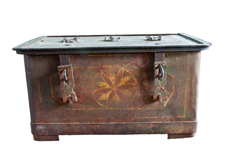 Antique iron chests photo