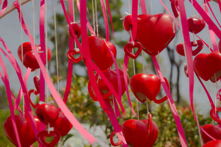Red heart-shaped bell Stock Photo - 18138712