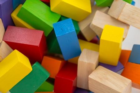 Wooden cubes photo