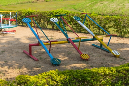 Colorful Playground in the park photo