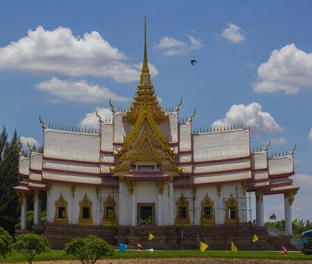 nakhon: thai temple ,Wat Non Kum Nakhon Ratchasima, Thailand. Stock Photo