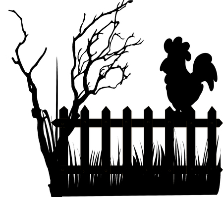A roster on the fence Illustration