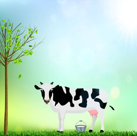 Cow and a Bucket of Milk