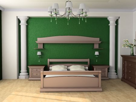 Bedroom in classical style 3d image Stock Photo - 6461472
