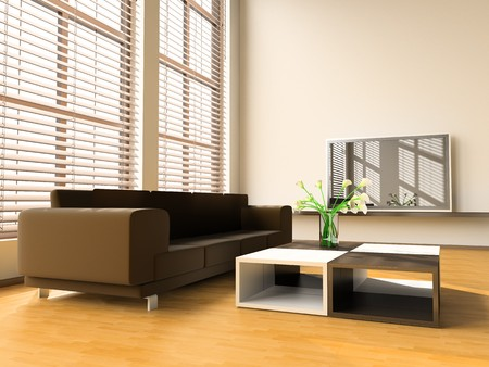 Sofa in a drawing room 3d image photo