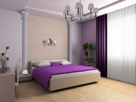 Bedroom in classical style 3d image