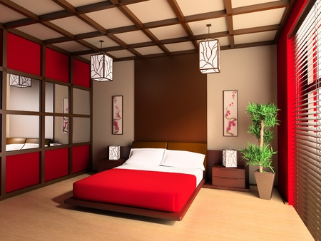 Bedroom in modern style 3d image Stock Photo - 8349523