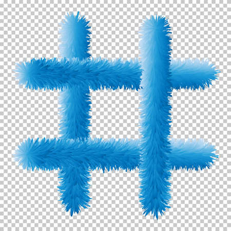 hashtag web icon. Fur. Vector illustration. Web elements