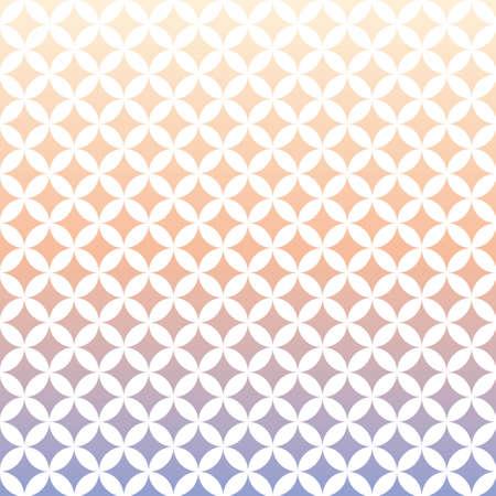 Circular geometric pattern and blue-purple and pink gradation