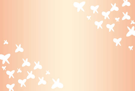 White butterfly and pink gradient wallpaper Illustration