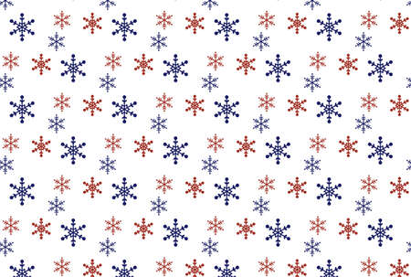 Red and blue snowflake wallpaper