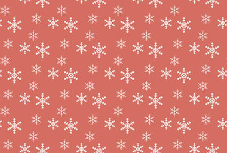 White snow flake wallpaper with pink background