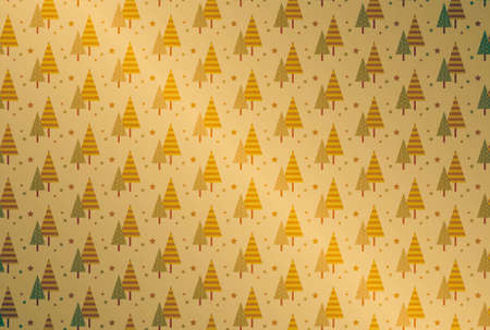 Seamless pattern of stylish wood with golden gradient background