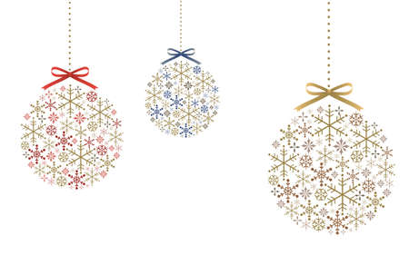 Ornament of snowflakes and ribbons