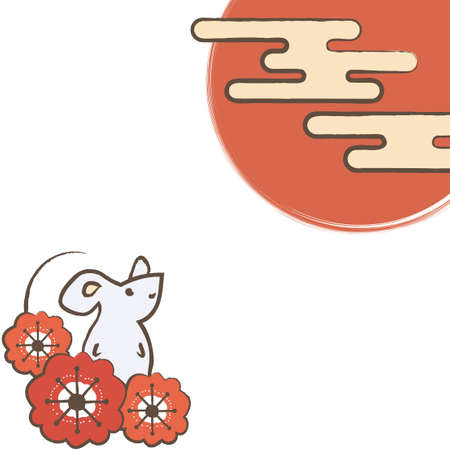 Plum Blossoms, Rats, Sun and Clouds