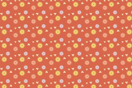Petal pattern with red-brown background