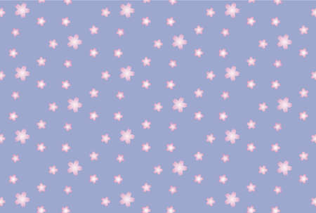 Seamless Japanese-style pattern of purple background and cherry blossoms