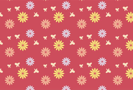 Petal pattern with pink background Stock Illustratie