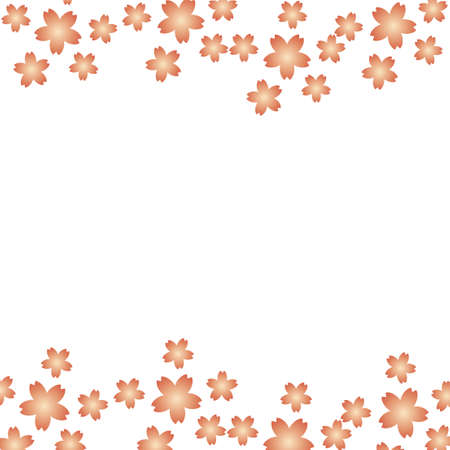Simple Japanese-style frame of cherry blossoms